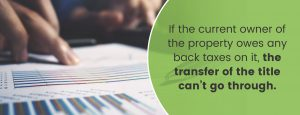 Back Taxes Owed Prevent Title Transfer | Title Partners of South Florida